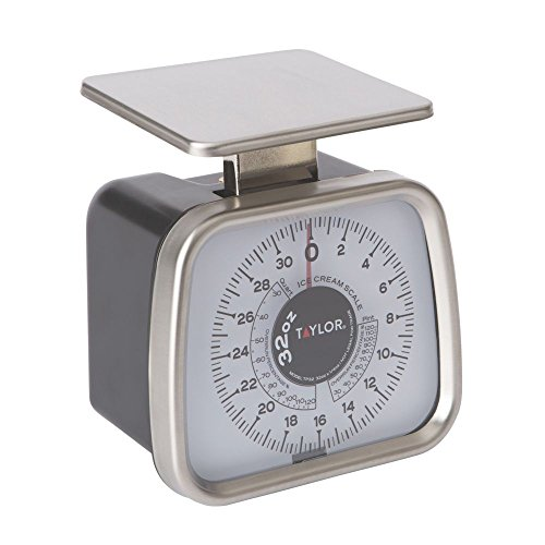 Taylor TP32 Mechanical SS Fixed Dial Portion Scale, 32 oz x 1/4 oz. for Ice Cream (0.25 Ounce Mechanical Scale)