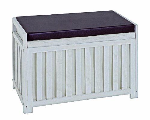 HAKU Möbel 26320 Bank 65 x 33 x 46 cm, weiß gewischt