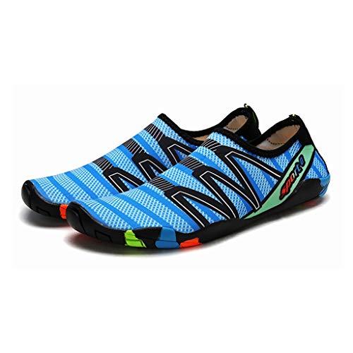ZZABC SHTAXJWXW Zapatillas de Deporte de Playa de Secado rápido Hombres Transpirables Deportes Zapatos de Agua Hombres al Aire Libre Upstream Aqua Shoes Pareja Sneakers de natación Antideslizante
