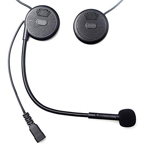 Fodsports Casco de la Motocicleta Auricular inalámbrico Bluetooth Manos Libres para Moto de la Motocicleta del Casco de Auriculares micrófono del Auricular MP3 Dedicado Casco Headset Auriculares