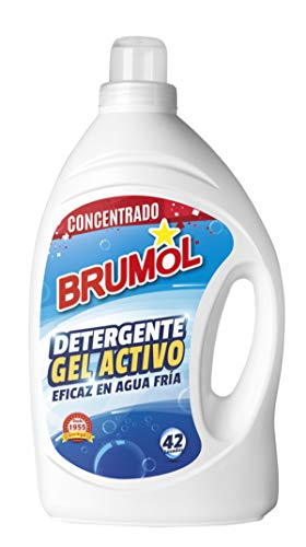 Brumol Detergente Gel Activo, 42 Lavados - Paquete de 4 x 2770 ml - Total: 11080 ml