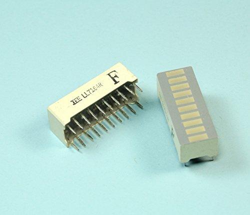 (SG #30) 1pc IEE Red LED Bar Graph - Single-Color -10 Segment - LL7164R - 20 pins
