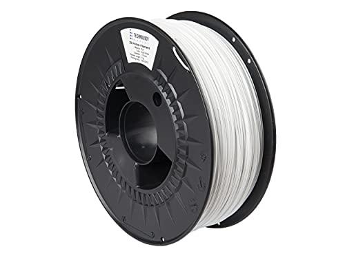 TECHNOLOGYOUTLET Premium 3D Printer Filament 1.75MM PLA Arctic White