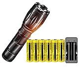 Best 18650 Batteries - Super Bright 2000 Lumen 18650 Tactical Flashlight Review