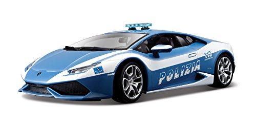 Bburago - 11041 - Véhicule Miniature - Modèle À L'échelle - Lamborghini Huracan Lp 610-4 - Police 2014 - Echelle 1/18