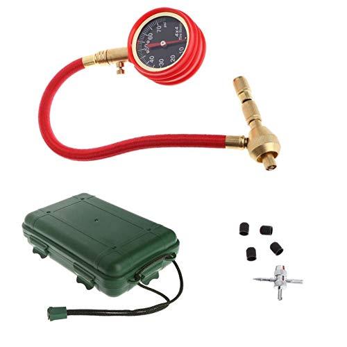 TANGIST Testador de metro de presión de aire de neumático para neumáticos para vehículos de motor camión de coche camioneta de bicicleta