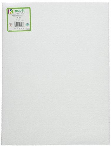 12-Piece Kunin Eco-fi Prestofelt Peel-n-Stick, 9-Inch by 12-Inch, White