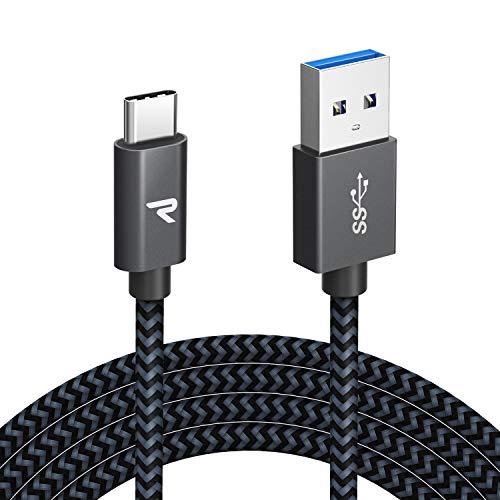 RAMPOW Cable USB Tipo C 3.0 2M Cable USB C Carga Rápida...