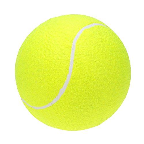 Lixada Balle de Tennis Géante, 24 cm Jouet N'abîme Pas Les Dents pour Les Grands Animaux Chiens Sports D'extérieur de Plage