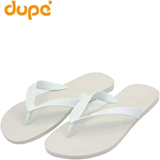 Dupe White Flip Flop Thong Design Slipper for Mens