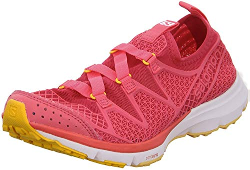 SALOMON Damen Crossamphibian W Traillaufschuhe, Pink (Lotus Pink/Madder Pink/Yellow Gold 137), 40 EU