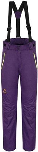 Femme Pantalons de Ski Pare-Vent, Etanche, Garder au Chaud Ski Sports d'hiver Coton Pantalon Surpantalon Tenue de Ski