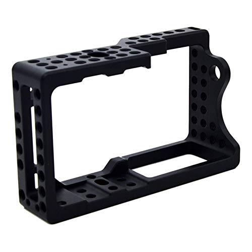 Zhice Protector de Estabilizador de la Jaula de la cámara de Video para el Monitor de micrófono de Montaje en cámara BMPCC (Color : Negro)