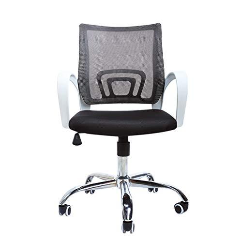Comif- Ergonomische stoel voor personeel, bureaustoel, gebogen rugleuning ontwerp, stalen voet/hoge laadcapaciteit, zakelijke aangepaste bureaustoel (zwart)