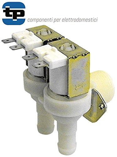 TP Vanne magnétique pour lave-vaisselle Aristarco GL4.32E, GL4.32EM, LP55-65, PROJECT28E 230 V double entrée 3/4' DN 10