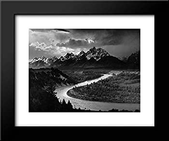 The Tetons and The Snake River 18x15 Framed Art Print by Ansel Adams