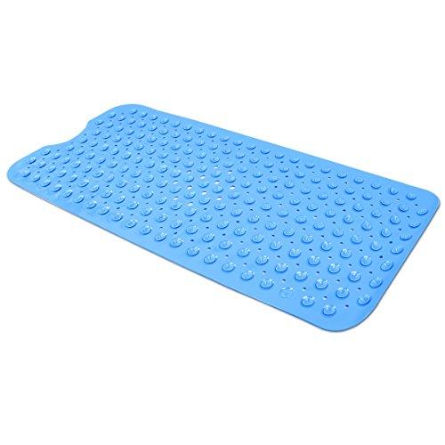 YiLianDa Tapis de Bain en PVC Antid/érapant Tapis de Douche Baignoire avec Ventouse Bleu fonc/é