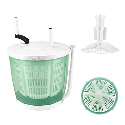 MEIHG Mini lavadora para lavandería compacta con secador de centrifugado, lavadora superior no eléctrica, portátil, diseño duradero, ahorro de energía para camping, caravanas (verde)