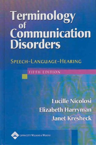 Terminology of Communication Disorders:...