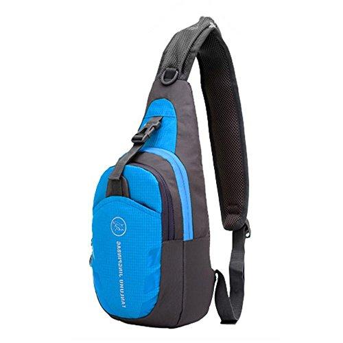 mmrm Nylon Sport Hommes poitrine sac à bandoulière diagonale paquet bandoulière Randonnée Camping Lot Bleu
