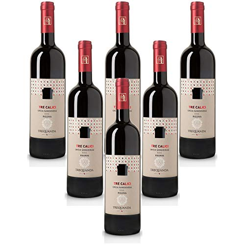 treCalici Orcia San Giovese DOC Riserva Trequanda Rossi Vino Rosso italiano (6 bottiglia 75 cl.)