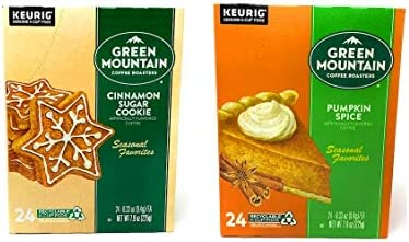 Green Mountain K Cups Seasonal Variety Pack of 2 Flavors Cinnamon Sugar Cookie and Pumpkin Spice product image