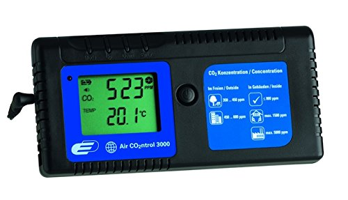 TFA Dostmann Airco2ntrol 3000 CO2-Messgerät, zur Überwachung der CO2-Konzentration, akustischer Alarm, Temperaturanzeige