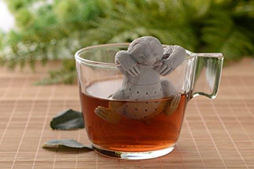 Netcream Süßes Faultier Tee Sieb oder Tee Ei aus hochwertigem Silikon 100% BPA frei