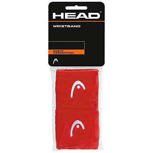 HEAD Unisex– Erwachsene 2,5 Schweißband, red, One Size