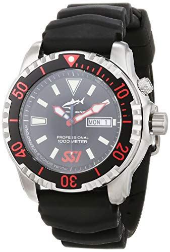 CHRIS BENZ Unisex Quarz Uhr mit Kautschuk Armband CB-1000-SSI-KBS