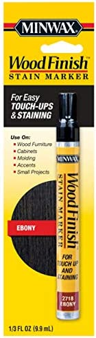 Minwax 634900000, Ebony Wood Finish Stain Marker, 1/3 oz
