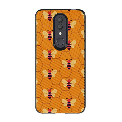 MINITURTLE Hülle für Alcatel Onyx [Hybrid TPU und PC Slim Case für Alcatel Onyx Case] Schutzhülle Silikon Case kompatibel mit Alcatel Onyx Hard Shell Phone Case, Honeycomb Bees