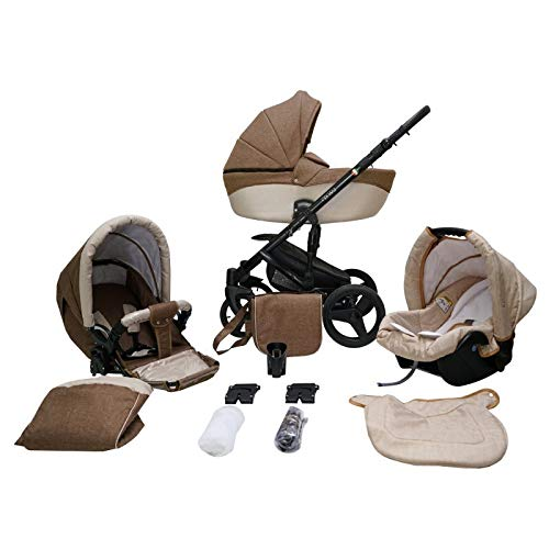Kinderwagen Pram Pushchair Isofix Autostoel DIN EN 1888 Genua door Lux4Kids 4in1 car seat +Isofix Desert 09
