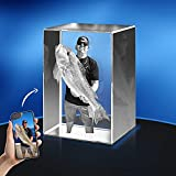 Personalized 3D Crystal Photo, Custom 3D Photo Crystal, Photo Etched Engraved Inside The Crystal with Your Own Picture, 3D Glass Picture Cube Gift Idea, 3D Photo Engraved Crystal