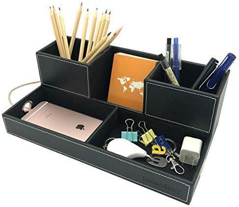 UnionBasic 5-Compartment Desk Organizer Max 53% OFF - Designed for Hole Cabl Special price