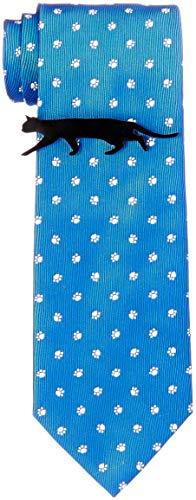 [ドレスコード101] 猫好きさん必見 ネコのネクタイとネコのタイピンの2点セット ボックス付 プレゼント ギフト メンズ おもしろ 洗える ネクタイ 可愛い ネクタイピンおしゃれ 猫 ねこ 通勤 ビジネス ネクタイ&タイピンセット にくきゅう×サックスブ
