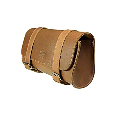 Hide & Drink, Thick Leather Motorcycle Handlebar and Tool bag, Accessory Pouch, Saddle Bag, Handmade Includes 101 Year Warranty :: Single Malt Mahogany from