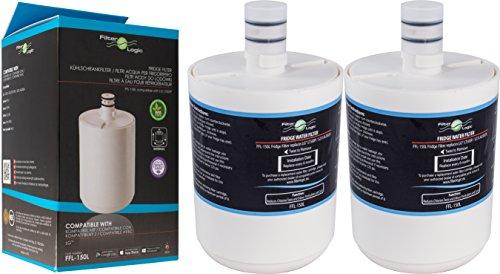 FilterLogic FFL-150L | Filtro acqua compatibile con LG ADQ72910901, GEN11042F-08, GEN11042FR-08, 5231JA2002A, LT500P Premium Filter Cartuccia filtrante interno per frigorifero americano (Pacco da 2)