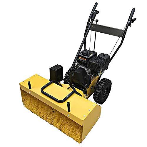 VANLAMP Benzin Schneefräse, 6.5 PS 4.8 kW Arbeitsbreite 800mm Kehrmaschine Schnee für Patio Garten Garage,9hpelecticstart