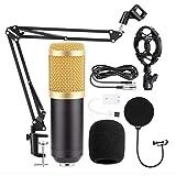 BM800 Studio Condenser Microphone 3.5mm Wired BM800 Condenser Sound Recording Microphone for...