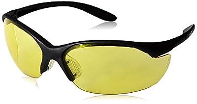 Howard Leight by Honeywell Vapor II Sharp-Shooter Anti-Glare Shooting Glasses, Amber Lens (R-01536)