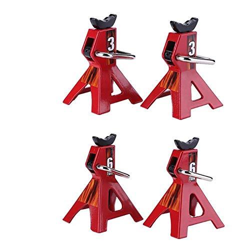 Amyove Dekoratives Zubehör für Kletterwagen 1:10,RC Autos Metall Jack Steht Reparatur Werkzeug 2 teile/satz RC Crawler Klettern Auto Reparatur Werkzeuge Fahrzeuge Modell Teile Accessery 3 Tonnen
