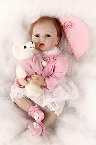 """ZIYIUI 22"""" Lebensecht Puppe Reborn Babys Mädchen Weich Vinyl Silikon Puppen Junge Wiedergeborene Babypuppen Toddlers Dolls 55cm"""