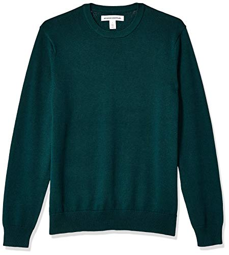 Amazon Essentials Men's Crewneck Sweater, -Forest Green, Large
