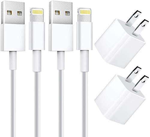 [Apple MFi zertifiziert] iPhone Schnellladegerät, Stuffcool 2 Pack 91 cm Lightning auf USB Schnellladekabel mit 2 Stück USB Rapid Wandladestecker für iPhone 13/12/11/XS/XR/X 8 7/iPad/AirPods