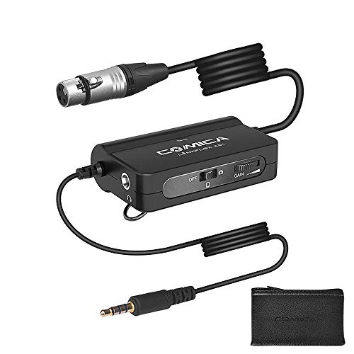 top rated Comica LinkFlex AD1XLR-3.5mm Microphone Preamp Adapter Microphone Audio Interface Adapter… 2020