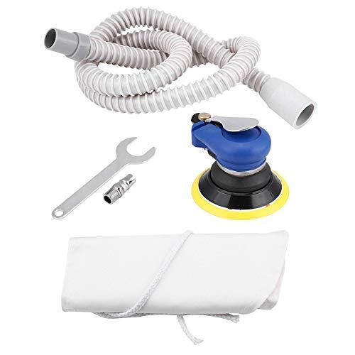 BINGFANG-W Discs Air Zufällige Orbital Vacuum Sander, Rund Air Palm Exzenterschleifer 9000rpm Pneumatische Poliermaschine Handschleifwerkzeug (128mm (5 Zoll) -Air Exzenterschleifer) Abrasive