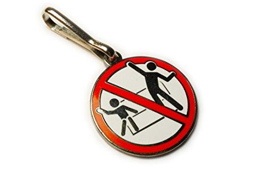 Kein stehen Disco Dancing Ride Schild Disney Fantasy Jacke Rucksack Zipper Pull Clip