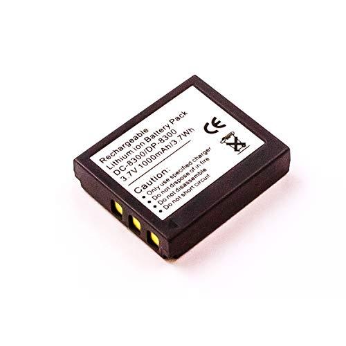 MobiloTec Akku kompatibel mit Voigtländer Virtus D8, Camcorder/Digitalkamera Li-Ion Batterie
