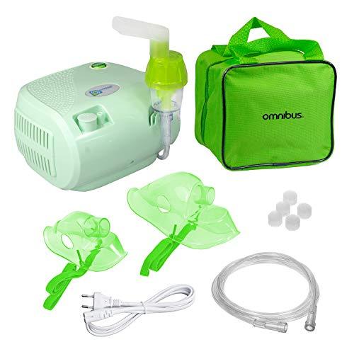 Omnibus BR-CN116B Inhaliergerät Inhalator Aerosol Therapie Vernebler Inhalation Kompressor (Seladon)